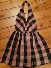 Topshop dress Black and pink size 8 rock chick  halter neck skater style dress
