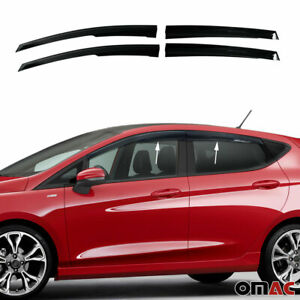 Window Visor Vent Sun Shade Rain Guard 4pcs Fits Ford Fiesta Hatchback 2010-2021