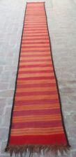 2 x 15'4 ft Handmade Vintage Afghan Tribal Long Hallway Persian Kilim Runner Rug