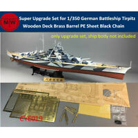 Super Upgrade for 1/350 German Battleship Tirpitz Tamiya 78015/Trumpeter 80602