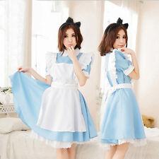 Adult Alice In Wonderland Costume Cosplay Women Girl Maid Fancy Dress Lolita