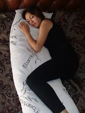 "Five Diamond Collection Bamboo Covered 60"" Shredded Memory Foam Full Body Pillow"