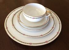 TRESSEMANES & VOGT T&V Limoges Pattern 6439-6836 Roses 5 Piece Place Setting