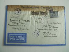 1942 CENSORED AIRMAIL FROM RODI TO ATHENS