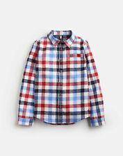 JOULES Boys Checked Shirt Navy//cream Size 6yrs 116cm BNWT