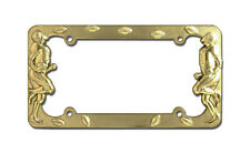 FOOTBALL PLAYER GOLD LICENSE PLATE FRAME