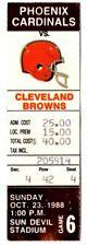 1988 PHOENIX CARDINALS vs CLEVELAND BROWNS Ticket Stub ARIZONA
