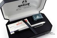 Marlen Vintage Sterling Silver Black Arianne Shuttle Fountain Pen - Rare!