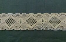"""1"""" WHITE STRETCH ELASTIC LACE GARTER HEADBAND 3 YARDS FOR $1.00"""