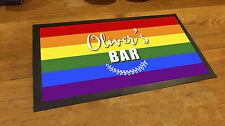 Personalizado Bandera del arco iris orgullo gay toalla de bar Bares & Coctel
