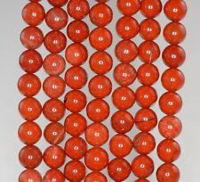 "10MM BRICK RED BRECCIATED JASPER GEMSTONE  GRADE A BROWN ROUND LOOSE BEADS 7.5"""