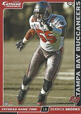 DERRICK BROOKS FATHEAD TRADEABLES STICKER TAMPA BAY BUCCANEERS FSU SEMINOLES G79