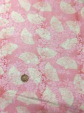 100% COTONE Quilting Craft Tessuto ORIENTALI CINESI sostenitori su Rosa visitare Parigi