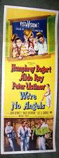 WE'RE NO ANGELS 14x36 HUMPHREY BOGART/JOAN BENNETT original 1955 movie poster
