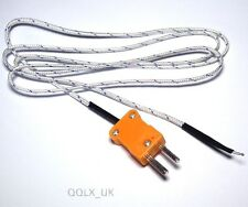 1m K-Type Thermocouple Probe Temperature Sensor for Digital Thermometer - UK
