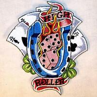 HIGH ROLLER GAMBLER EMBROIDERED PATCH P560 iron on sew biker JACKET patches NEW