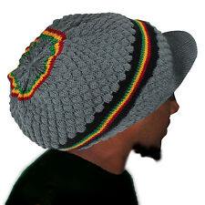 Rasta Roots Hat Beret Cap Crown Reggae Marley Jamaica Irie Rastafari L/xl Fit