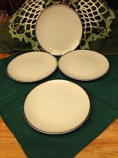 """Four Celebrity Fine China Made in Japan White # Anniversary Bread Plate 6 1/2"""""""