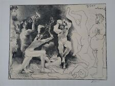 Pablo Picasso, Dance of the Fawns, lithograph, signed on zinc plate - 5/24/1957