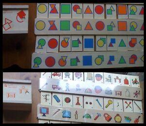 2 SETS! NEW Wood Montessori/Waldorf Doron Layeled Child Education Teaching Tiles