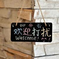 1Pcs Wooden Hanging Blackboard  Chalk Board Message Wedding Party Decoration