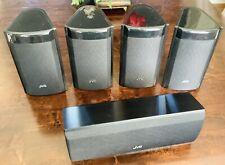 5 Speaker JVC Speakers Black Wired Front/Surround/Center Sound Satellite Theater