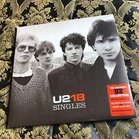 U2 18 SINGLES Mint sealed 2 x LP vinyl Bono The Edge