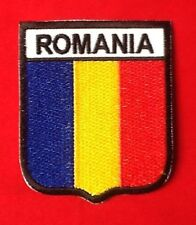 ROMANIA ROMANIAN EUROPE NATIONAL COUNTRY FLAG BADGE IRON SEW ON PATCH CREST