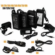 1A 2A 3A 5A 6A 8A Power Supply Adapter Transformer 110V -240V To DC 5V 12V 24V