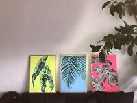 Palmen MALEREI Kunst ACRYL Original BILD Gemälde MODERN Unikat Leinwand