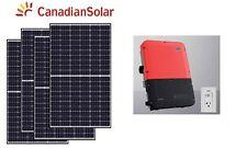 10 kW Grid Tied Solar Panel System Net Metering inverter panneau solaire