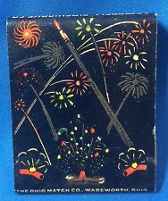 1940s Campbell Fireworks July 4 Advertsng Full Matchbook La Crosse Wi Houston Tx