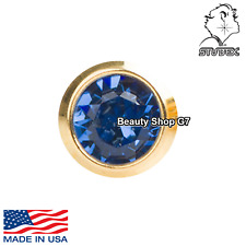 Studex Ear Piercing R209Y Gold Plated Sapphire Stone 4MM Regular 12 Pairs Studs