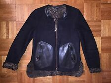 Rag and Bone shearling leather reversible Jacket bomber  motorcycle jacket Sz S