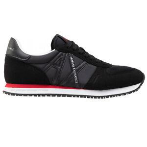 Armani Exchange Men's Shoes Sneakers XUX017 XCC68 00020 Total Black