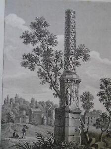 1817-1819 BAUGEAN - VUE COLONNE ANTIQUE A CUSSI - COTE D OR - gravure voyage