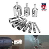 10PCS Diamond Hole Saw Drill Bit Set Glass Ceramic Tile Saw Cutting Tools 6-30mm