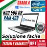 PC NOTEBOOK PORTATILE HP ELITEBOOK 840 I5 4300U 4GB RAM W10PRO HDD 500GB GRADO A