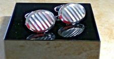 New Dolan Bullock 14Kt white gold  Pearl Cufflinks wcl004200 usa made