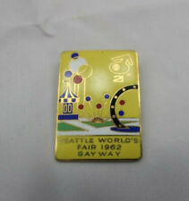 SEATTLE WORLD'S FAIR GAYWAY Pin Brooch 1962 lgbtq Medal Pin Brooch