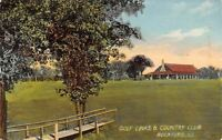 Rockford Illinois~Country Club~Foot Bridge by Golf Links~Course~1911 Postcard