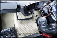 SCANIA 4 FLOOR SET LEATHERETTE IN BEIGE [TRUCK PARTS & ACCESSORIES]