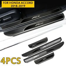 Black titanium Car Scuff Plate Door Sill Guard Pedal Fits Honda Accord 2018-2019