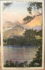 Mt Postcard Sunset Swiftcurrent Lakes Mount Wilbur Hileman Glacier National Park