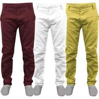 NEW MENS STRETCH CHINO TROUSERS COTTON PANT STRAIGHT LEG SPANDEX SLIM FIT JEANS