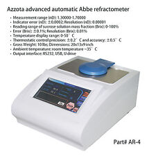 Azzota AR-4 Automatic Digital Abbe Refractometer-automatic design and large LCD
