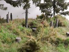 10 x Baumstumpf zum stecken. Für Diorama, Modellbahn, Handarbeit.