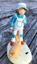 Vintage Holly Hobbie Figurine Miniature Boy Duck Cast Iron 1978 Vanity Fair Doll
