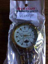 NUOVO Da Uomo ORLANDO grandi SS Color Oro Watch W257/10