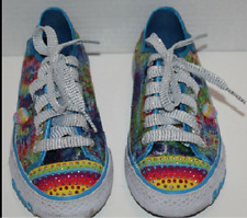 Girl Skechers Twinkle Toes Sequin Multi Color Sneaker Tennis shoes Size 3 M
